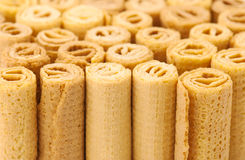 Waffle rolls background Royalty Free Stock Image