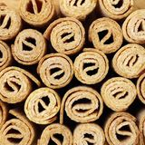 Waffle rolls background Royalty Free Stock Images