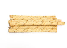 Waffle rolls isolated on white background Royalty Free Stock Photos