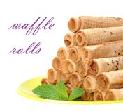 Waffle rolls Royalty Free Stock Images