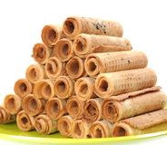 Waffle rolls Royalty Free Stock Photos