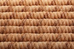 Waffle rolls stick background Royalty Free Stock Images