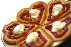 Waffle saboroso Foto de Stock Royalty Free