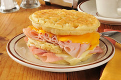 Waffle Sandwich Stock Images