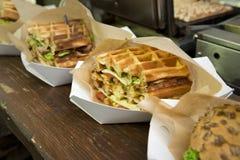 Waffle sandwiches Stock Photo