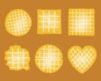 Waffle set Royalty Free Stock Images