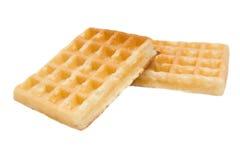 Waffle. Some waffle on white background royalty free stock images