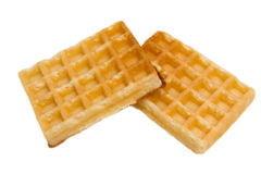 Waffle from. Some waffle on white background viewed from above stock photo
