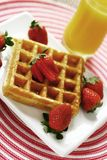 Waffle and strawberry stock photography