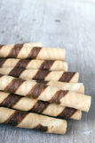 Waffle striped rolls Stock Photography
