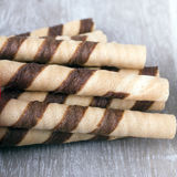 Waffle striped rolls Stock Images