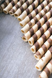 Waffle striped rolls Royalty Free Stock Photos