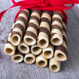 Waffle striped rolls Royalty Free Stock Photography