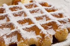 A waffle with sugar Royalty Free Stock Photos