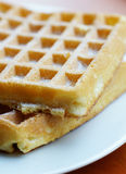 Waffle with sugar Stock Photos