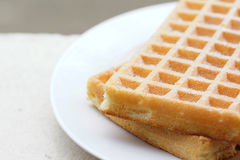 Waffle with sugar Stock Photo