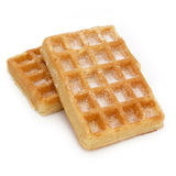 Waffle with sugar (isolated) Stock Images