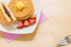 Waffle for Tea Break / Waffle for Coffee Break Stock Image