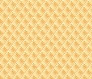 Waffle texture or background. Waffle texture. Vector seamless background Royalty Free Stock Image