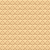 Waffle texture. Seamless pattern, brown vector background Royalty Free Stock Images