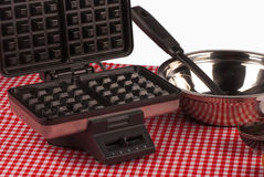 Waffle utensils still life Stock Photos