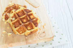 Waffle. The Waffle has cooked and ready to serve and enjoy eating in relaxing time on holiday Stock Photo