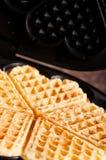 Waffle and waffle iron Stock Photography