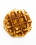 Waffle. A waffle isolated on white background Royalty Free Stock Photography