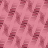 Waffle-weave and stripes pattern pink red diagonally Royalty Free Stock Images