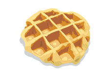 Waffle. A waffle what can found in ordinary shop. Piain waffle is now popular to serve with decoration topping in coffee shop Royalty Free Stock Photography