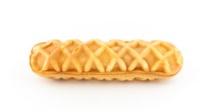 Waffle on white background Royalty Free Stock Photo