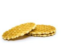 Waffle on white background Royalty Free Stock Photos