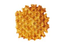 Waffle. On white with clipping path Royalty Free Stock Image