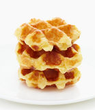 Waffle on white Royalty Free Stock Image