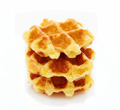 Waffle on white a Stock Photography