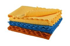 Waffle wipes for dishes Royalty Free Stock Images