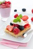 Waffle With Fruits Royalty Free Stock Photo