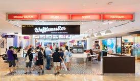 Wafflemeister cafe in Suria KLCC, Kuala Lumpur Stock Photos