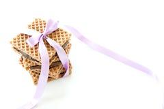 waffles гайки шоколада заполняя Стоковые Фотографии RF