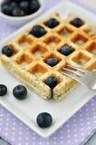 Waffles голубики Стоковое Изображение