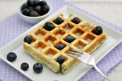 Waffles голубики Стоковые Фото