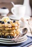 Waffles голубики Стоковые Фотографии RF