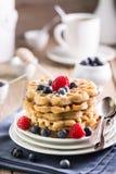 Waffles голубики Стоковые Изображения