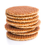 Waffles заполненные при мед (изолированный на белизне) Стоковые Изображения
