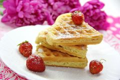 Waffles и ягоды Стоковое фото RF