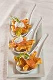 Waffles кукурузной муки с копчеными семгами Стоковые Изображения RF