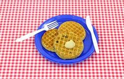 waffles меда голубики Стоковое Фото
