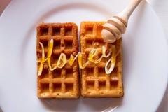 waffles меда Стоковые Фотографии RF