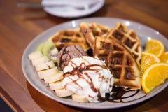 Waffles мороженого стоковое изображение rf