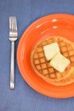 2 waffles на яркой предпосылке Стоковые Изображения
